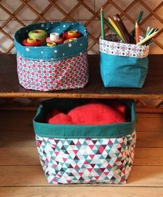 Tuto: the cloth basket - I do it myself - Knitting 01 Coin Couture, Baby Couture, Couture Sewing, Fanni Stitch, Clothes Basket, Creation Couture, Sewing Projects For Beginners, Diy And Crafts, Sewing Patterns