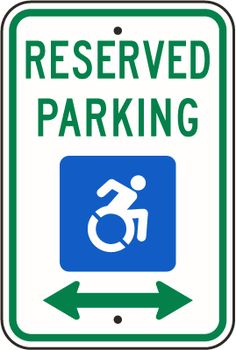 New York Accessible Reserved Parking Sign NY R7-8 (DA)