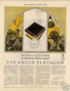 Gruen Pentagon Watch (1927)