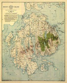 47 Best Maine Vintage Map images