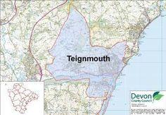 teignmouth devon uk | Teignmouth Map