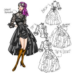 Steampunk outfit designed by Cultofcandy.com! entered into Chicstar.com
