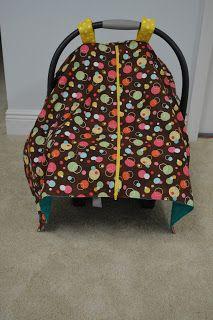 Naturally Crafty Mom: Zippered Car seat Canopy Tutorial