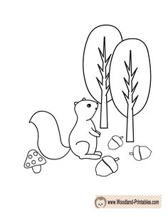 Woodland Animals Clipart Commercial Use WITH Black and