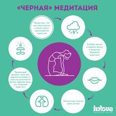 Инфографика. Черная медитация. #infographics #meditation