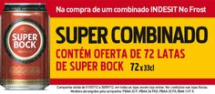 Super Combinado: Contém oferta de 72 latas 33cl de  Super Bock  Na compra de um combinado Indesit No Frost  http://www.radiopopular.pt/familias/grandomesticos.php