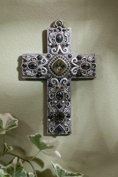 Hematite Gemstone Wall Cross – Celebrate Faith
