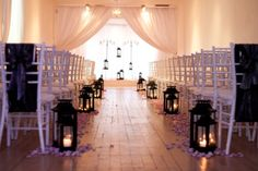 Indoor ceremony decor (photo source: Tre Bella) #weddings