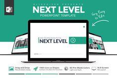 Next Level Powerpoint Template by Slidedizer on Creative Market
