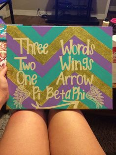 Pi beta phi #DIY canvas. This is awesome to make for your little or just for your room. #PBP