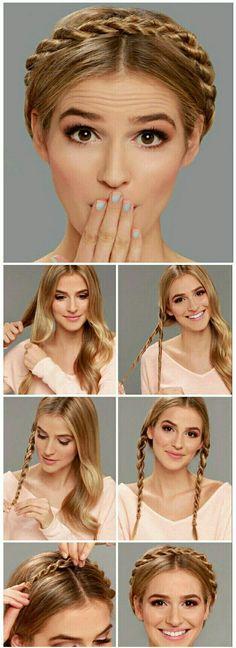 Luce hermosa con éstos hermosos peinados con trenzas. Te enseñamos a hacerlos paso a paso.