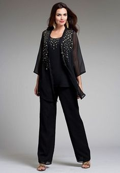 727ae274c1572 Plus Size Formal Pant Suits and Plus Size Cocktail Pants Suits are a ...