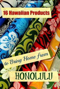Are planning a trip to Honolulu? Check out this guide! It offers you 16 ideas on what to bring home from your Hawaiian trip. The list is based on locally distinct products worth buying! Honolulu Hawaii, Mahalo Hawaii, Hawaii 2017, Waikiki Beach, Voyage Hawaii, Hawaii Travel Guide, Travel Tips, Travel Advice, Travel Ideas