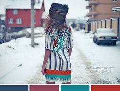 Vibrant colors/cold winter