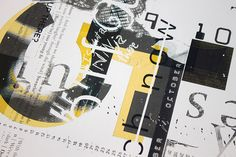Experimental Grids & Advanced Typography Project: Up-close shot of September/October Calendar Page by Jordan Welch