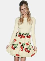 Diana VickersRadish Print Dress...love to see what this looks like on :)