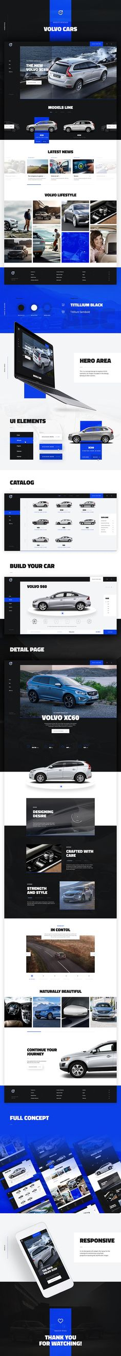 Website redesign concept for Volvo by Atwix.. If you're a user experience professional, listen to The UX Blog Podcast on iTunes.