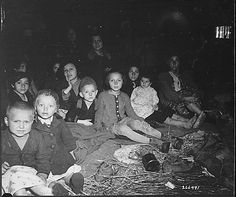 These women and children were liberated when the concentration camp for Jewish prisoners at Lambach, Austria, was overrun by the 71st Infantry Division. Death rate at the camp, mostly from starvation, was reputed to be 200 to 300 a day., 05/07/1945