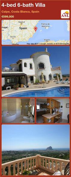 4-bed 6-bath Villa in Calpe, Costa Blanca, Spain ►€599,000 #PropertyForSaleInSpain