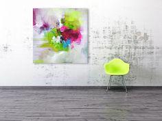 Original extra große quadratische abstrakte von ARTbyKirsten
