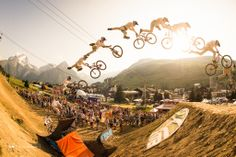 Martin Soderstrom laying down a triple tail whip over the last jump. Martin had an amazing run and hope to see more of his big moves coming up at Crankworx Whistler