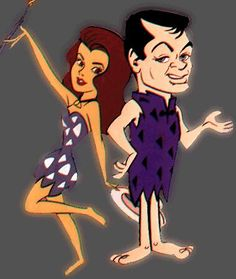 Ann-Margrock & Stoney Curtis - Hollywood characters on the Flinstones