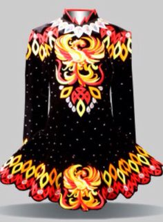 Dragons seem to be really hot right now -- Elevation Design**Irish Dance Solo Dress Costume**