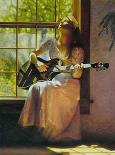 Art by Peter Taylor Quidley Double Exposition, Music Artwork, Guitar Art, Figure Painting, Art World, Figurative Art, Female Art, Art Boards, Cool Art
