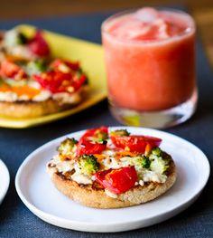 Mini BBQ Veggie Vegan Pizzas