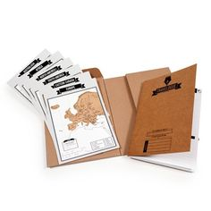 Where are you going and where have you been? This sumptuous and unusual travel journal allows you to record your trips with style. It includes a 64-page notepad and 8 miniature scratch maps. Each map represents a different region of the world, and once you've arrived, you can scratch off the country for a memento of your trip. Keep track of the places you've visited and recall your favorite moments with this unique journal.