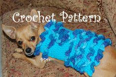 Crochet Pattern Lots of Ruffles Dog Sweater by poshpoochdesigns, $4.99