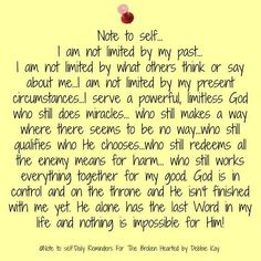 He who Is, Was, and Is To Come has never failed me. I trust in His providence.