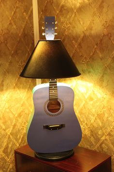 """Light Music"" lamp from cheap pawn shop acoustic guitar"