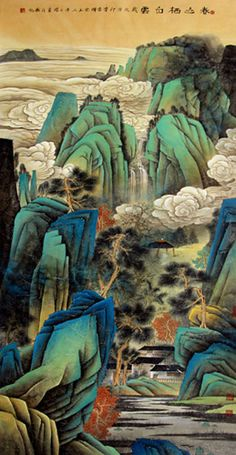 Page 33 Buy Chinese landscape paintings from China & World's Largest Online Chinese Painting Gallery. Asian oriental landscape paintings for sale. Chinese Landscape Painting, Chinese Painting, Chinese Art, Landscape Paintings, Wabi Sabi, Chinese Mountains, China World, Painting Gallery, Chinese Zodiac