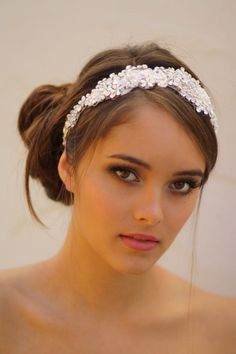 Tulle Veil Head Wrap with Detachable Crystal by DolorisPetunia, $550.00 / love this and the up-do <3