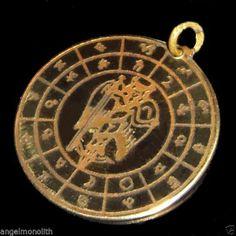 Amulett ÄION mystische Gottheit mit Engelflügeln Licht Macht Weisheit