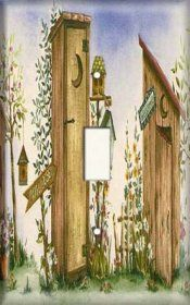 Snazzy Switch - Outhouse - Light Switch Plate Cover, $8.99 (http://www.snazzyswitch.com/outhouse-light-switch-plate-cover/)
