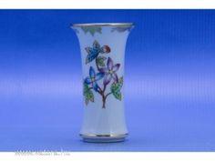 0C496 Viktória mintás herendi porcelán ibolya váza - 7500 Ft
