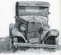 Pencil Drawings of Old Houses | Old Ford by Gene Franks, Pencil Drawing, Walter Foster Art Books ...