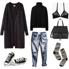 Chucks all day, errrday by fashionlandscape on Polyvore featuring Mode, Uniqlo, Cheap Monday, Madewell, Converse, Acne Studios and Mansur Gavriel