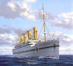 """El """"Britannic"""", que en un principio estaba previsto llamarse Gigantic, pero se consideró que este nombre podría acarrear mala suerte, fue incorporado a la Royal Navy, nada mas finalizar su construcción para participar como buque hospital en la 1ª Guerra Mundial."""