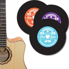 Vinyl Record Label Wedding Invitation DIY set (printable). $15.00, via Etsy.