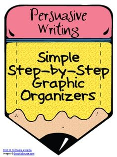 This product is a set of 3 graphic organizers to help students organize their thoughts while writing a persuasive essay. The graphic organizers are. Writing Strategies, Writing Lessons, Teaching Writing, Writing Activities, Writing Skills, Writing Ideas, Teaching Ideas, Writing Centers, Student Teaching