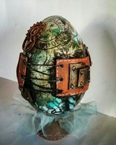 Monica Mariana Mixed Media Egg
