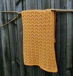 Big Bad Wool Lacy Koi Tails Baby Blanket Knitting Pattern PDF