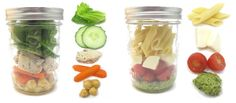 TONS  of different ideas for jars like this one for picnics!! bowl and container in one!!! HAVE to do this :)