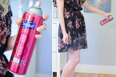 Get rid of static cling with aerosol hairspray.