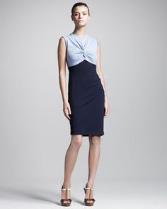 Colorblock Twist Dress by Carven at Neiman Marcus. $138