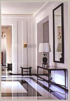 Foyer.  Designer: Pierre Yovanovitch.