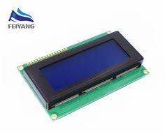 5 UNIDS SAMIORE ROBOT Inteligente Electrónica Módulo LCD Monitor de Pantalla LCD2004 2004 20*4 20X4 5 V carácter Azul Retroiluminación de la Pantalla